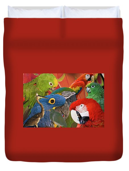 Florida Birds Duvet Cover