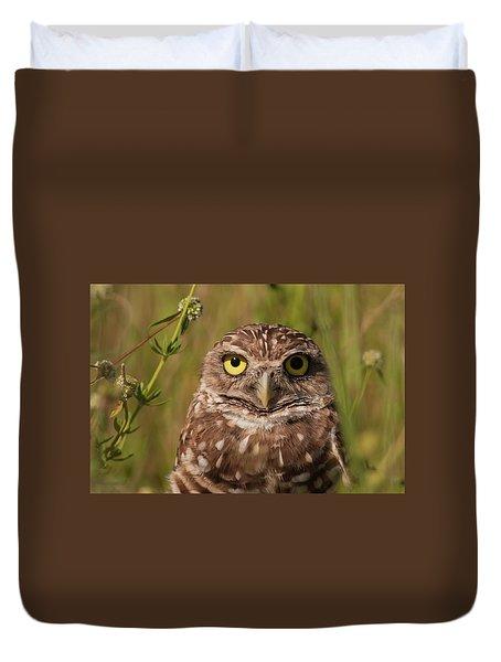 Florida Burrowing Owl Duvet Cover