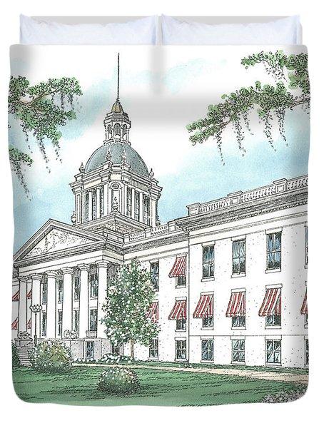 Florida Capitol 1902 Duvet Cover