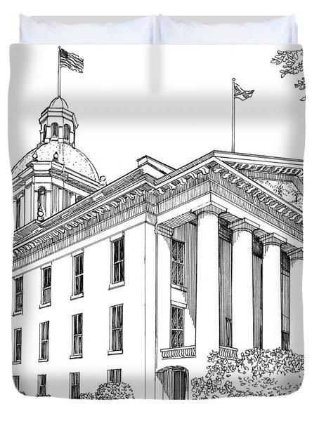 Florida Capitol 1950 Duvet Cover