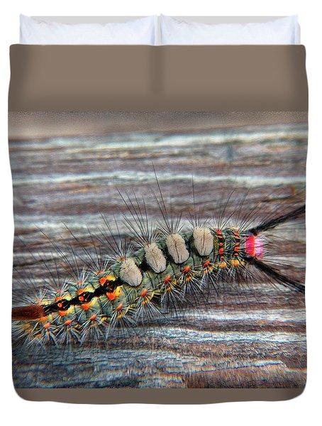 Florida Caterpillar Duvet Cover by Hanny Heim