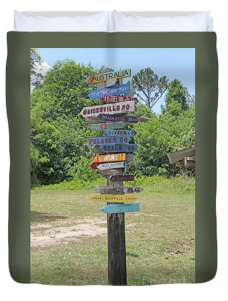 Duvet Cover featuring the photograph Florida Crossroads 3 by Dodie Ulery
