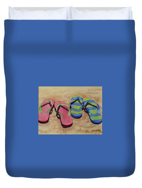 Florida Dress Shoes Duvet Cover