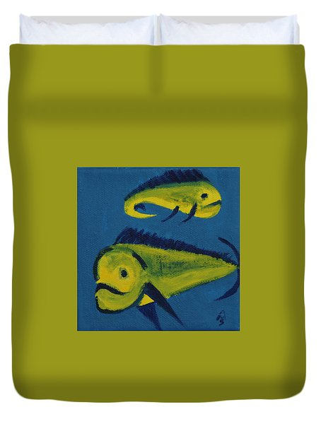 Florida Fish Duvet Cover