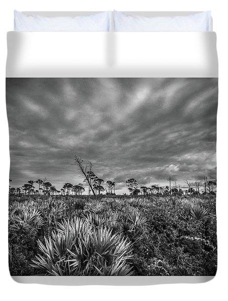 Florida Flatwoods Duvet Cover