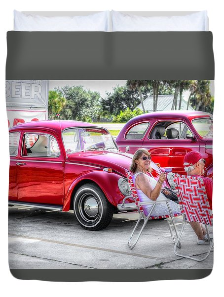 Florida Fun In The Sun Duvet Cover