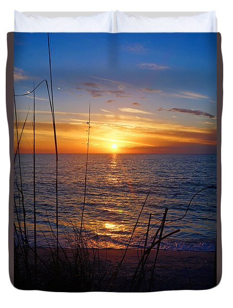 Florida Gulf Coast Sunset Duvet Cover