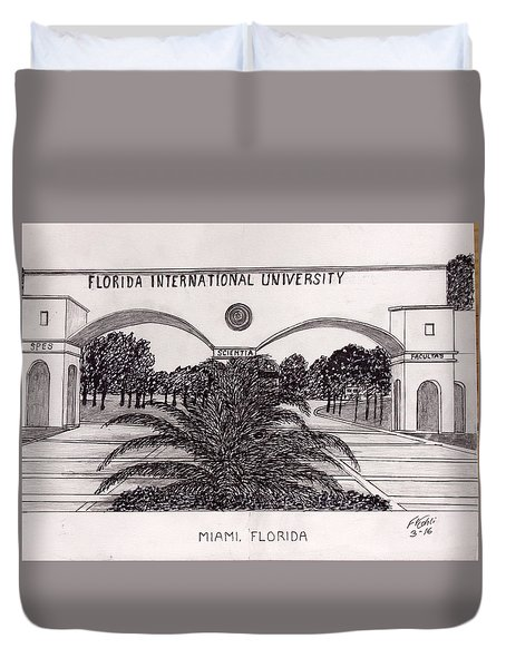 Florida International University Duvet Cover