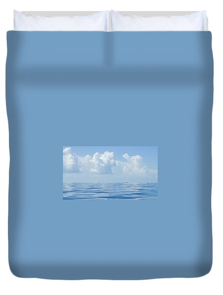 Florida Keys Clouds And Ocean Duvet Cover