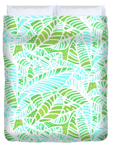 Florida Keys Leaves Duvet Cover