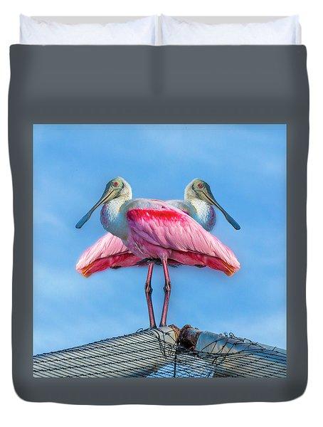 Florida Keys Roseate Spoonbill Duvet Cover