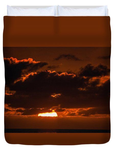 Florida Keys Sunrise Duvet Cover