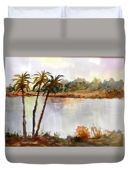 Florida Landscape Duvet Cover by Larry Hamilton
