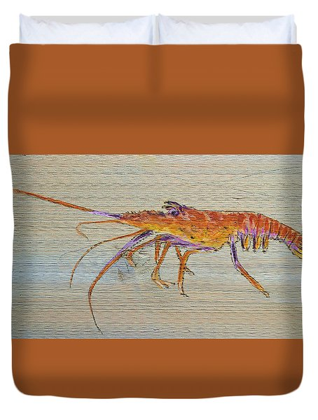 Florida Lobster Duvet Cover