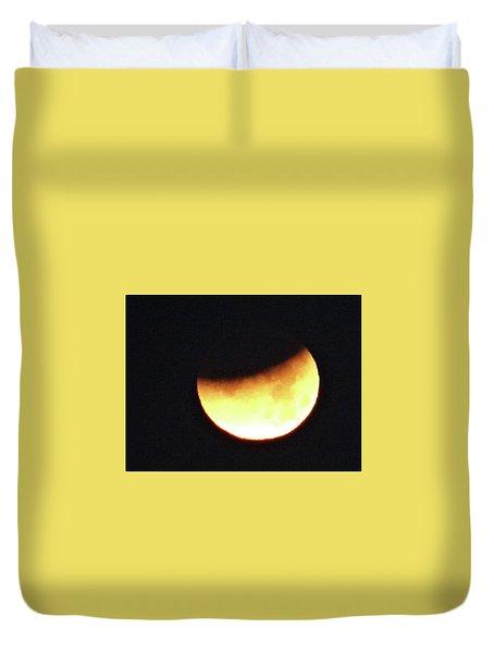 Florida Lunar Moon Eclipse 2018  Duvet Cover
