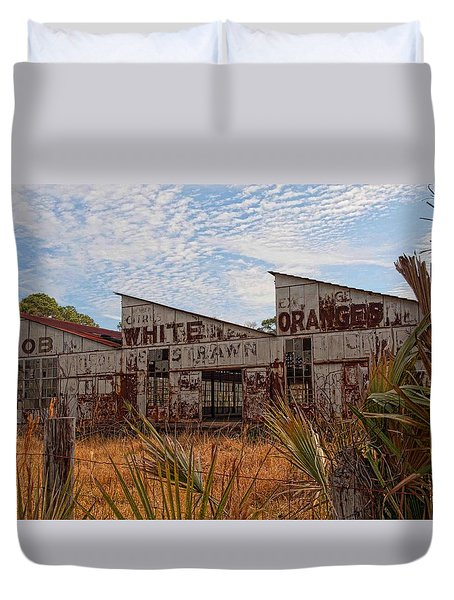Florida Oranges Duvet Cover