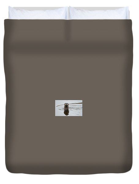 Florida Otter Duvet Cover