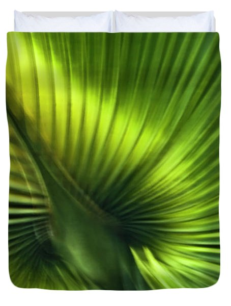 Florida Palm Frond Duvet Cover by Carolyn Marshall