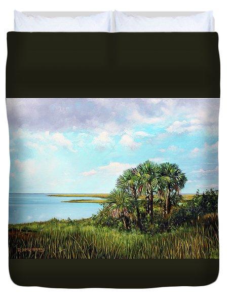 Florida Palms Duvet Cover
