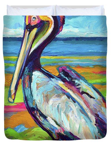 Florida Pelican Duvet Cover
