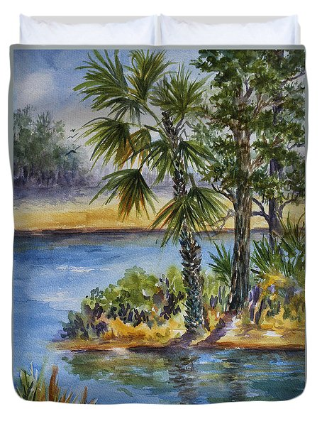 Florida Pine Inlet Duvet Cover