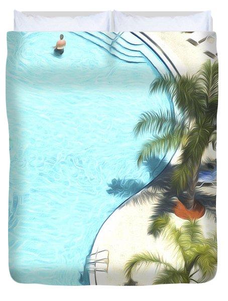 Florida Pool 33 Duvet Cover