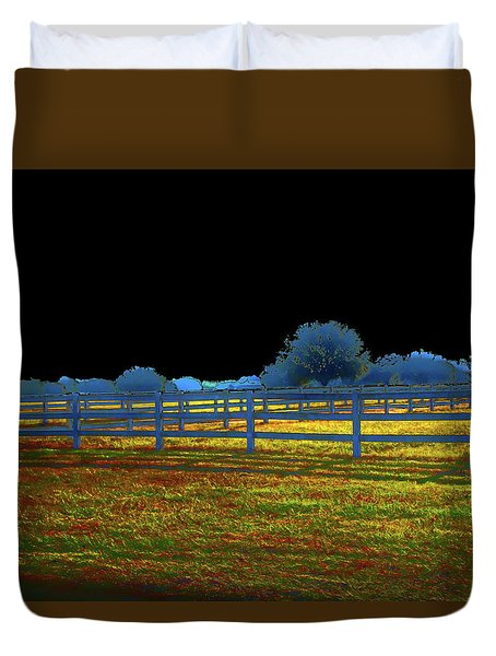 Florida Ranchland Duvet Cover