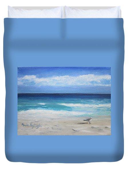 Florida Seagull Duvet Cover