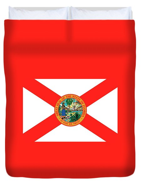 Florida State Flag Duvet Cover by American School