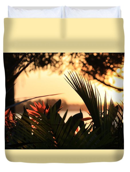 Duvet Cover featuring the photograph Florida Sunrise by Diane Merkle
