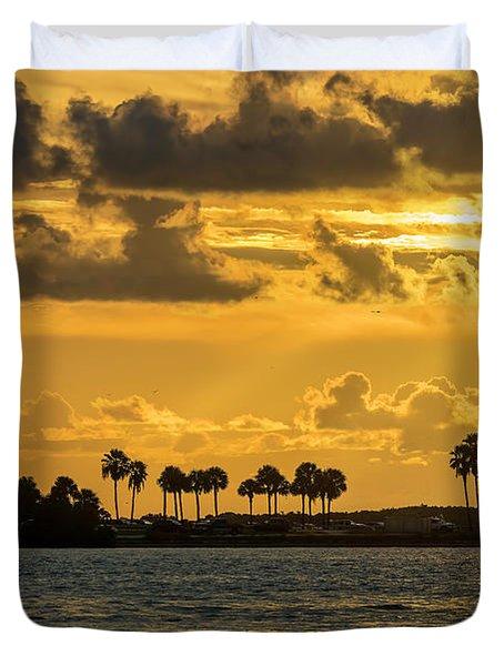 Florida Sunset-1 Duvet Cover