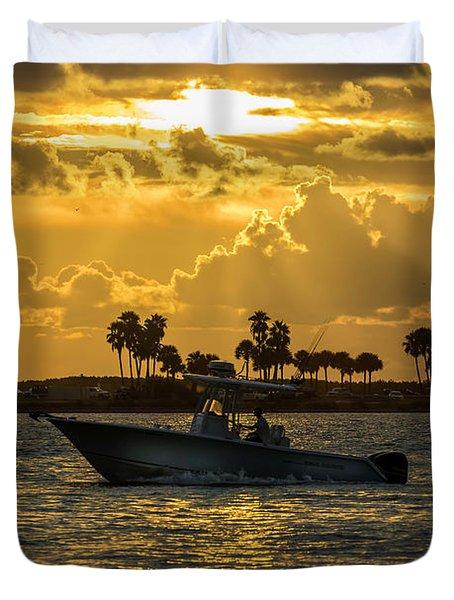 Florida Sunset-2 Duvet Cover