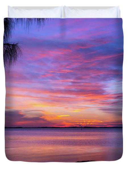 Florida Sunset #2 Duvet Cover