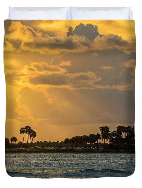 Florida Sunset-3 Duvet Cover