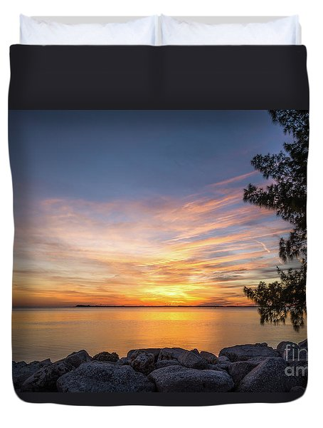 Florida Sunset #3 Duvet Cover
