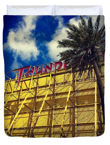 Florida Thunderbird Drive In Duvet Cover