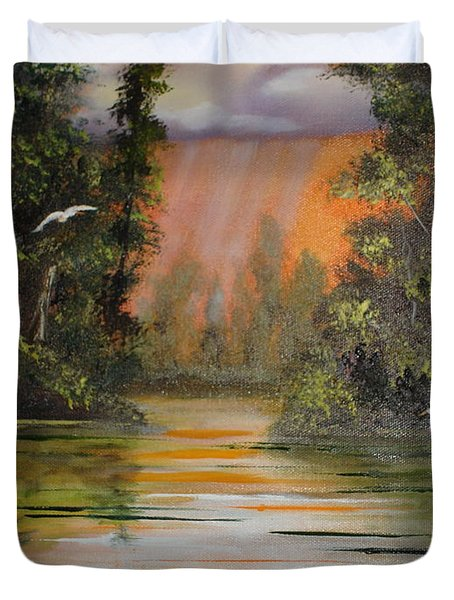 Florida Thunderstorm Duvet Cover by Susan Kubes