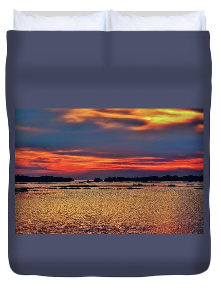 Duvet Cover featuring the photograph Florida West Coast  by Louis Ferreira