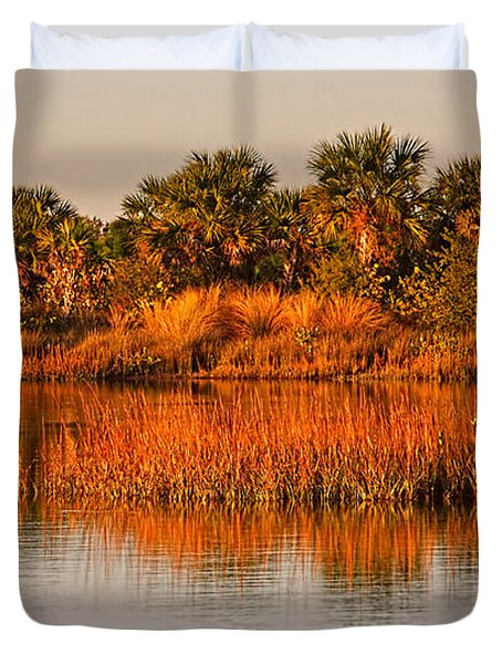 Florida Wetlands Habitat By H H Photography Of Florida Duvet Cover