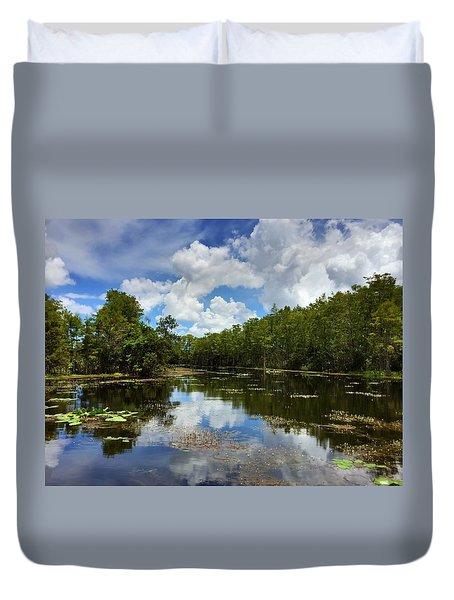 Florida Wetlands Duvet Cover