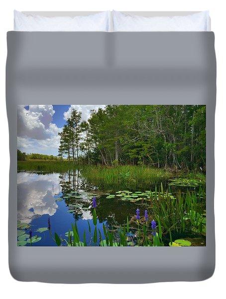 Florida Wetlands Reflections Duvet Cover