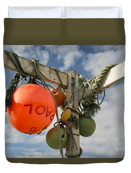Duvet Cover featuring the photograph Flotsam And Jetsam by Brian Roscorla