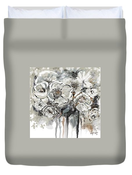 Floral Anxiety  Duvet Cover