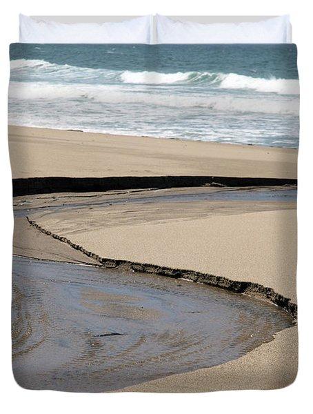 Flow - Scott Creek  Duvet Cover by Amanda Barcon