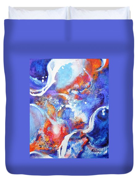 Flow Duvet Cover by Betty M M Wong