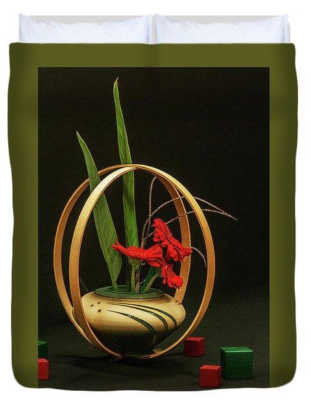 Flow Ikebana Duvet Cover by Carolyn Dalessandro