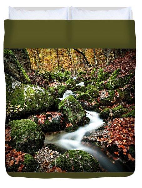 Flow Duvet Cover by Jorge Maia