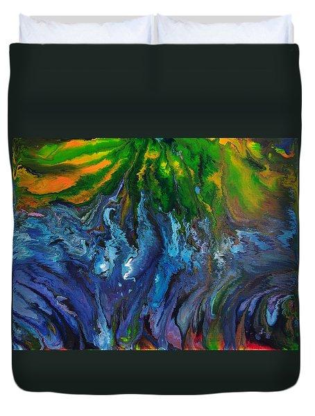 Flow Duvet Cover by Lori Kingston