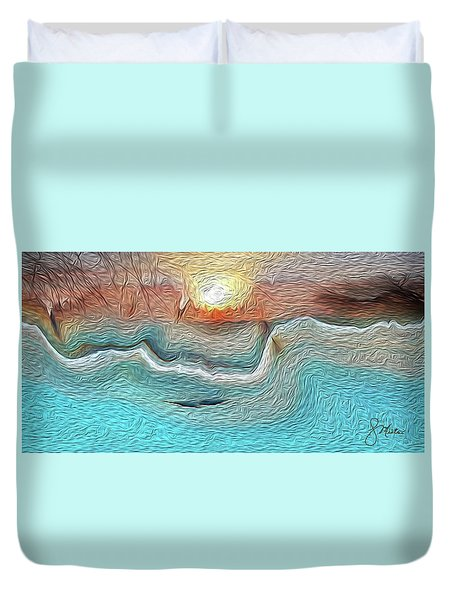 Flow Of Creation Duvet Cover