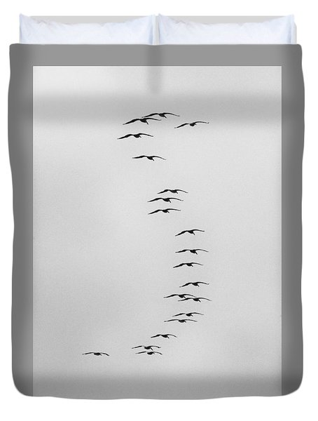 Flow Of The Pelican Duvet Cover